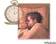 Ilustración de un hombre con dificultad para dormir