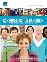 2009 Consumer Action Handbook cover graphic