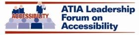 ATIA Leadership Forum on Accessibility Logo