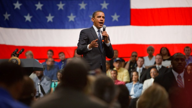 The President speaks at a town hall in New Mexico