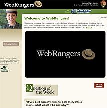 Screenshot of the Web Rangers website.