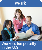 Workers temporarily in the U.S.