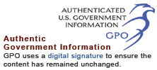 AUTHENTICATED U.S. GOVERNMENT INFORMATION