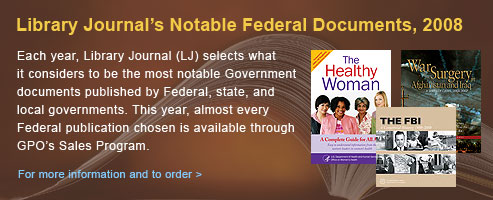 Library Journal's Notable Federal Documents 2008
