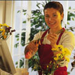 Business lady with florist company