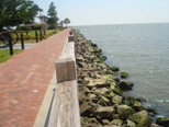 A Mobile Bay revetment or sea wall