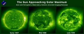 solar atmosphere with increasing activity near solar maximum