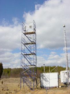 A 10-meter high sampling tower in Beltsville MD