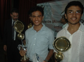 Pradeep Rajdas and Jude Sannith from Loyola College who won the 1st and 2nd prizes.