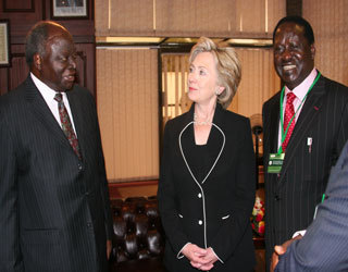 Meeting with President Kibaki and Prime Minister Odinga
