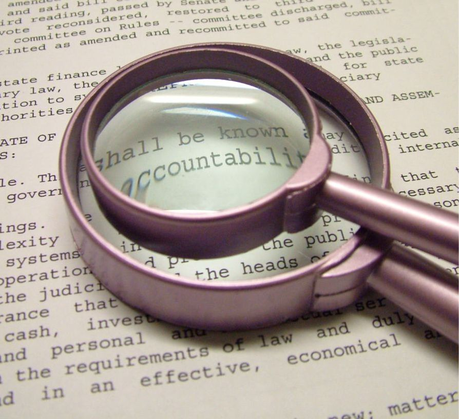 accountability magnifying glass