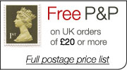 Free Postage and Packaging on UK Orders over £20