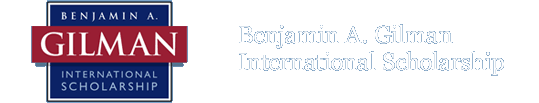 Benjamin A. Gilman International Scholarship
