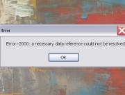 error background