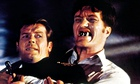 Richard Kiel, right, with Roger Moore as James Bond.