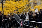 Occupy Wall Street protesters remove police barricades in Zuccotti Park